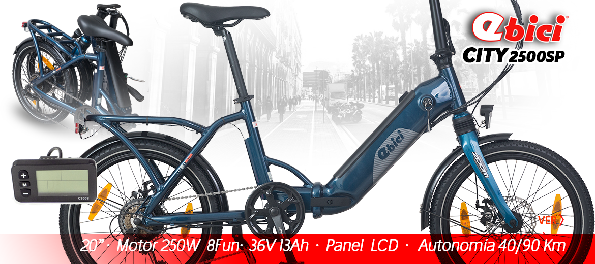 Bicicleta plegable electrica Ebici city 2500