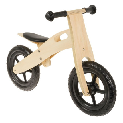 Bici de aprendizaje Light running bike madera-negra
