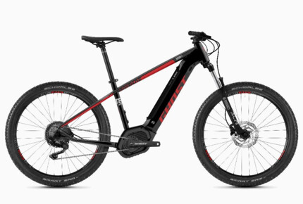 Bici electrica GHOST Hybride Teru PT B3.7+ AL U jet black / riot red / urban grey 10 2020